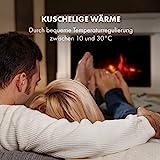 KLARSTEIN Bern Elektrischer Kamin Elektrokamin, 1000/2000 W, LED-Flammenillusion, Fernbedienung, Thermostat: 10-30 °C, Wochentimer, Open Window Detection, Überhitzungsschutz, MDF-Gehäuse, weiß - 7