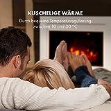 KLARSTEIN Blanca Elektrischer Kamin Elektrokamin, 1000/2000 W, LED-Flammenillusion, Fernbedienung, Thermostat: 10-30 °C, Wochentimer, Open Window Detection, Überhitzungsschutz, MDF-Gehäuse, weiß - 6