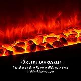Klarstein Montreux Elektrischer Kamin - Elektrokamin mit Flammeneffekt und 1000 oder 2000 Watt Heizfunktion, Heat Edition, Wochentimer, Insta Fire, dimmbar, Landhaus-Stil, inkl. Fernbedienung, weiß - 3