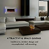 Klarstein Belfort Light & Fire Elektrischer Kamin mit Flammeneffekt - Elektrokamin, E-Kamin, 1000 oder 2000 Watt, Thermostat, Timer, Ambiente-Beleuchtung, Fernbedienung, Wandmontage, weiß - 5