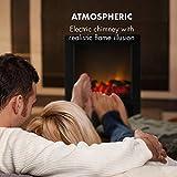 Klarstein Zermatt Elektrischer Kamin mit Flammeneffekt - Elektrokamin, E-Kamin, 750/1500 Watt, zuschaltbare Heizfunktion, Thermostat, InstFire-Prinzip, bis zu 20 m², Retro-Design, schwarz - 2