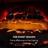Klarstein Brixen Elektrischer Kamin mit Flammeneffekt - Elektrokamin, E-Kamin, 900/1800 Watt, stufenloses Thermostat, LED Backlight, Überhitzungsschutz, 3D-Flame-Effekt, InstaFire, schwarz - 5
