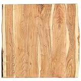 vidaXL Massivholz Tischplatte Baumkante Massivholzplatte Akazie 60x(50-60) x3,8cm