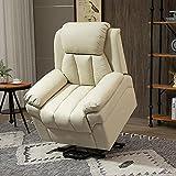 HOMCOM Elektrischer Fernsehsessel Aufstehsessel Relaxsessel Sessel mit Aufstehhilfe (creme) - 9
