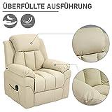 HOMCOM Elektrischer Fernsehsessel Aufstehsessel Relaxsessel Sessel mit Aufstehhilfe (creme) - 3