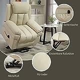 HOMCOM Elektrischer Fernsehsessel Aufstehsessel Relaxsessel Sessel mit Aufstehhilfe (creme) - 8