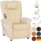 THRONER EXKLUSIV Massagesessel (Schlafsessel) mit elektrischer Aufstehhilfe und 5-Punktmassage in Hellbeige, Made in Germany - 7