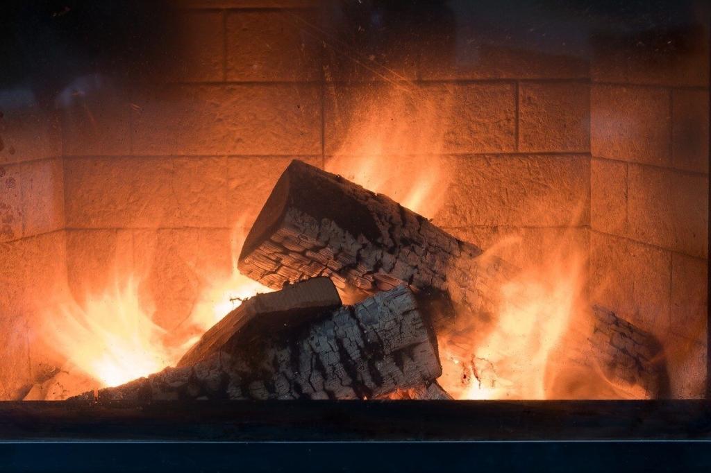 Ein echtes Holzfeuer mit echtem Knistereffekt